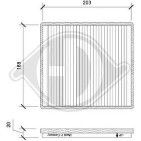 Filter, Innenraumluft Länge: 213mm, Breite: 198mm, Höhe: 20mm mit OEM-Nummer 95947238