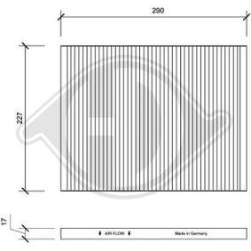 Filter, Innenraumluft Art. Nr. DCI1003 120,00€