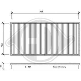 Filter, Innenraumluft Länge: 357mm, Breite: 171mm, Höhe: 30mm mit OEM-Nummer 1062253