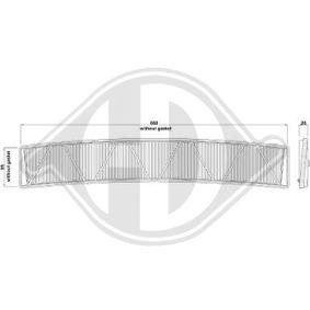 Filter, Innenraumluft Länge: 675mm, Breite: 125mm, Höhe: 25mm mit OEM-Nummer 64 31 9 257 504