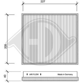 Filter, Innenraumluft Länge: 237mm, Breite: 215mm, Höhe: 40mm mit OEM-Nummer 163.835.02.47