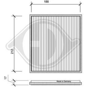 Filter, Innenraumluft Länge: 198mm, Breite: 222mm, Höhe: 17mm mit OEM-Nummer 0897400820