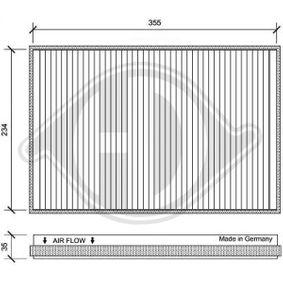 Filter, Innenraumluft Länge: 365mm, Breite: 244mm, Höhe: 35mm mit OEM-Nummer 906 830 03 18
