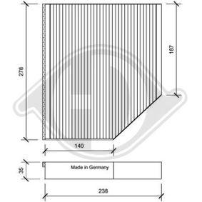 Filter, Innenraumluft Länge: 238mm, Breite: 278mm, Höhe: 35mm mit OEM-Nummer 8K0 819 439A
