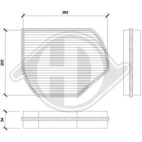 Filter, Innenraumluft Länge: 218mm, Breite: 278mm, Höhe: 54mm mit OEM-Nummer B6 680 99 01