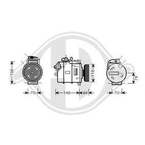Compresor, aire acondicionado Polea Ø: 110mm con OEM número 8E0260805