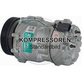 Compresor, aire acondicionado Polea Ø: 110mm con OEM número 8E0260805AH