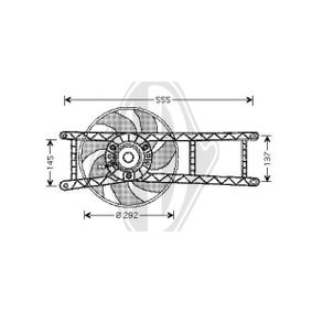 Fan, radiator DCL1096 PANDA (169) 1.2 MY 2018