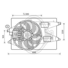 Lüfter, Motorkühlung DCL1113 MONDEO 3 Kombi (BWY) 2.0 TDCi Bj 2003