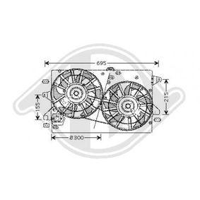 Lüfter, Motorkühlung DCL1114 MONDEO 3 Kombi (BWY) 2.0 TDCi Bj 2007
