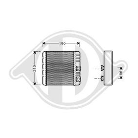 Wärmetauscher, Innenraumheizung DCM1034 X3 (E83) 2.0 d Bj 2007