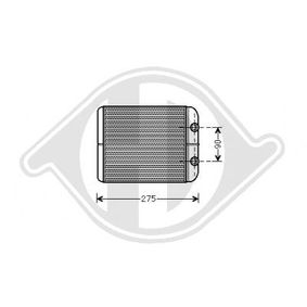DIEDERICHS Wärmetauscher, Innenraumheizung DCM1255 für AUDI Q7 (4L) 3.0 TDI ab Baujahr 11.2007, 240 PS