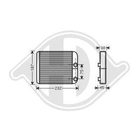 Wärmetauscher, Innenraumheizung mit OEM-Nummer 30824478