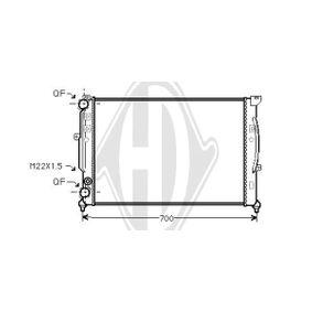 Wasserkühler VW PASSAT Variant (3B6) 1.9 TDI 130 PS ab 11.2000 DIEDERICHS Kühler, Motorkühlung (DCM1454) für