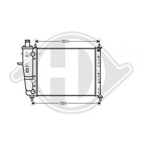 Radiator, engine cooling DCM1955 COUPE (FA/175) 2.0 20V Turbo MY 1997