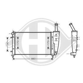 Radiator, engine cooling DCM1972 PUNTO (188) 1.2 16V 80 MY 2002