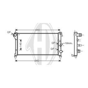 Radiator, engine cooling DCM1974 PANDA (169) 1.2 MY 2018