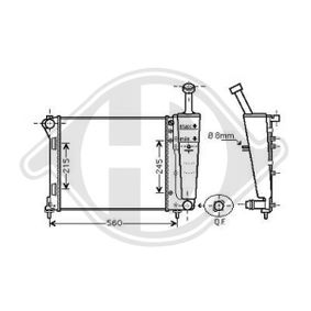 Kühler, Motorkühlung mit OEM-Nummer 5178 7115