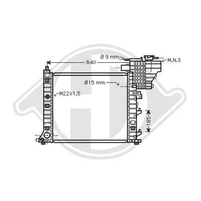 DIEDERICHS  DCM2401 Jäähdytin, moottorin jäähdytys