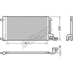 Kondensator, Klimaanlage Kältemittel: R 134a mit OEM-Nummer 6R0 820 411 M