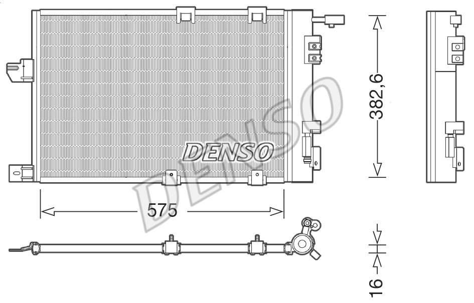 DENSO  DCN20038 Kondensator, Klimaanlage Kältemittel: R 134a