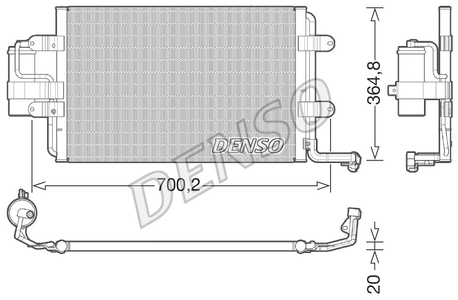 DENSO  DCN32021 Kondensator, Klimaanlage Kältemittel: R 134a