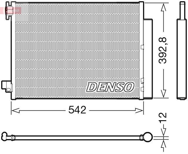 DENSO  DCN37004 Kondensator, Klimaanlage Kältemittel: R 134a