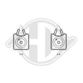 DIEDERICHS Ölkühler, Motoröl DCO1068 für AUDI 80 (8C, B4) 2.8 quattro ab Baujahr 09.1991, 174 PS