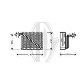 Verdampfer VW PASSAT Variant (3B6) 1.9 TDI 130 PS ab 11.2000 DIEDERICHS Verdampfer, Klimaanlage (DCV1007) für