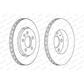 Bremsscheibe Bremsscheibendicke: 22mm, Lochanzahl: 5, Ø: 256mm mit OEM-Nummer 8L0615601