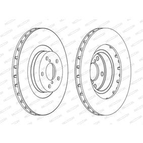 Bremsscheibe Bremsscheibendicke: 24mm, Lochanzahl: 5, Ø: 293mm mit OEM-Nummer 26300FE010