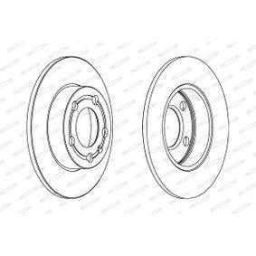 Bremsscheibe Bremsscheibendicke: 9mm, Lochanzahl: 4, Ø: 232mm mit OEM-Nummer 1J0615601P