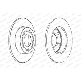 FERODO PREMIER DDF1233C Bremsscheibe Bremsscheibendicke: 9mm, Lochanzahl: 4, Ø: 232mm