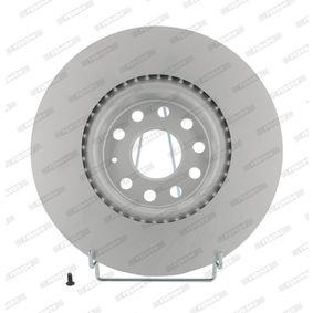 Bremsscheibe Bremsscheibendicke: 25mm, Lochanzahl: 5, Ø: 312mm mit OEM-Nummer 5N0 615 301