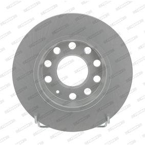 Bremsscheibe Bremsscheibendicke: 12mm, Lochanzahl: 10, Ø: 255mm mit OEM-Nummer 8E0 615 601D