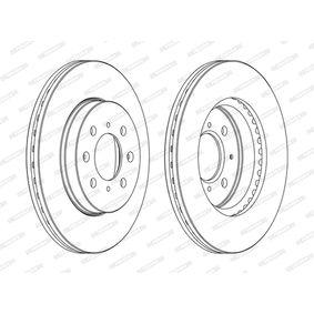 Bremsscheibe Bremsscheibendicke: 21mm, Lochanzahl: 4, Ø: 262mm mit OEM-Nummer 45251TARG00