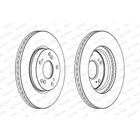 Brake Disc Brake Disc Thickness: 23mm, Num. of holes: 5, Ø: 282mm with OEM Number 45251-S7A- E11