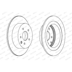 Brake Disc DDF1590C JUKE (F15) 1.5 MY 2014