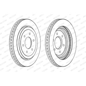 Bremsscheibe Bremsscheibendicke: 28mm, Lochanzahl: 6, Ø: 320mm mit OEM-Nummer 40206-5X00A