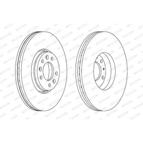 Brake Disc Brake Disc Thickness: 28mm, Num. of holes: 5, Ø: 304mm with OEM Number 1618865180