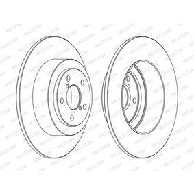FERODO PREMIER DDF1647C Bremsscheibe Bremsscheibendicke: 10mm, Lochanzahl: 5, Ø: 290mm