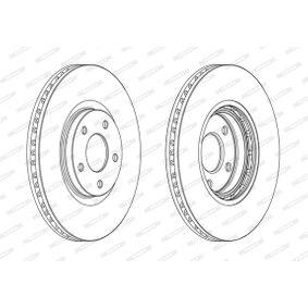 Bremsscheibe Bremsscheibendicke: 28mm, Lochanzahl: 5, Ø: 320mm mit OEM-Nummer 40206-JD00B