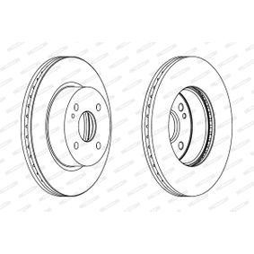 Brake Disc Brake Disc Thickness: 23mm, Num. of holes: 4, Ø: 258mm with OEM Number 1 892 668