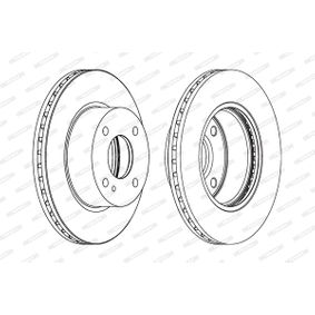 Brake Disc Brake Disc Thickness: 23mm, Num. of holes: 4, Ø: 258mm with OEM Number 8V51-1125AC