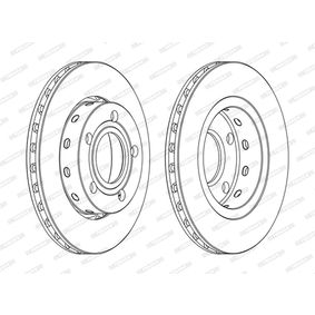 Brake Disc Brake Disc Thickness: 22mm, Num. of holes: 5, Ø: 256mm with OEM Number 1546835