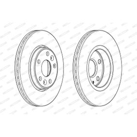 Brake Disc Brake Disc Thickness: 22mm, Num. of holes: 4, Ø: 258mm with OEM Number 40 20 612 00R
