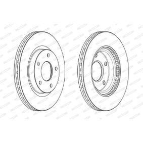 Brake Disc DDF2100C JUKE (F15) 1.5 MY 2019