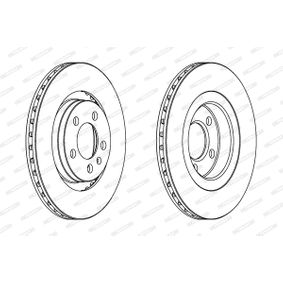 Bremsscheibe Bremsscheibendicke: 22mm, Lochanzahl: 5, Ø: 280mm mit OEM-Nummer JZW615301