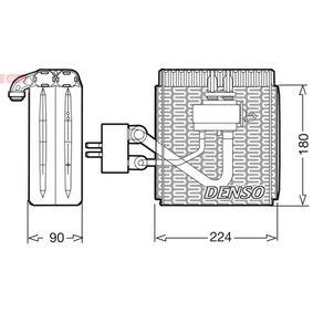 Evaporator, air conditioning DEV09002 PUNTO (188) 1.2 16V 80 MY 2000