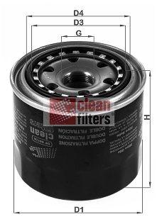 CLEAN FILTER  DF 861/A Ölfilter Höhe: 88mm